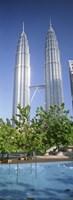 Malaysia, Kuala Lumpur, View of Petronas Twin Towers Fine Art Print
