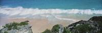 "High angle view of waves in the ocean, Atlantic Ocean, Bermuda by Panoramic Images - 27"" x 9"""