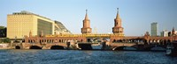 """Bridge on a river, Oberbaum Brucke, Berlin, Germany by Panoramic Images - 27"""" x 9"""", FulcrumGallery.com brand"""