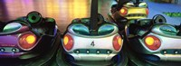 "Close-up of bumper cars, Amusement Park, Stuttgart, Germany by Panoramic Images - 27"" x 9"""
