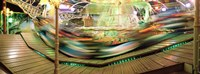 "Carousel in motion, Amusement Park, Stuttgart, Germany by Panoramic Images - 27"" x 9"""