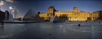 """Facade Of A Museum, Musee Du Louvre, Paris, France by Panoramic Images - 27"""" x 9"""""""