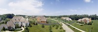 """High angle view of houses on a field by Panoramic Images - 27"""" x 9"""", FulcrumGallery.com brand"""