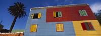 Low Angle View Of A Building, La Boca, Buenos Aires, Argentina Fine Art Print