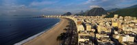 High Angle View Of The Beach, Copacabana Beach, Rio De Janeiro, Brazil Fine Art Print