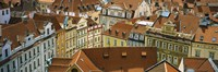 """High angle view of buildings, Prague, Czech Republic by Panoramic Images - 27"""" x 9"""", FulcrumGallery.com brand"""