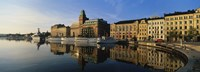 """Reflection Of Buildings On Water, Stockholm, Sweden by Panoramic Images - 27"""" x 9"""""""