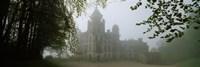 Castle Covered With Fog, Dunrobin Castle, Highlands, Scotland, United Kingdom Fine Art Print