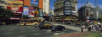 """Vehicles Moving On A Road, Buenos Aires, Argentina by Panoramic Images - 27"""" x 9"""" - $28.99"""