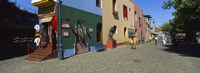 Multi-Colored Buildings In A City, La Boca, Buenos Aires, Argentina Fine Art Print