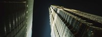 """Low Angle View Of A Tower, Jin Mao Tower, Pudong, Shanghai, China by Panoramic Images - 27"""" x 9"""""""