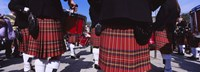 """Group Of Men Playing Drums In The Street, Scotland, United Kingdom by Panoramic Images - 27"""" x 9"""", FulcrumGallery.com brand"""