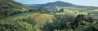 "High angle view of a church, Abbazia Di Sant Antimo, Tuscany, Italy by Panoramic Images - 27"" x 9"""