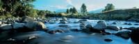 """Rocks in the river, Mount Taranaki, Taranaki, North Island, New Zealand by Panoramic Images - 27"""" x 9"""", FulcrumGallery.com brand"""