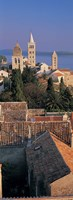 """High angle view of a town, Rab Island, Croatia by Panoramic Images - 9"""" x 27"""""""