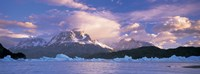 "Cloudy sky over mountains, Lago Grey, Torres del Paine National Park, Patagonia, Chile by Panoramic Images - 27"" x 9"""