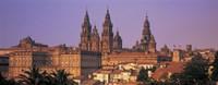 Cathedral in a cityscape, Santiago De Compostela, La Coruna, Galicia, Spain Fine Art Print