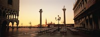 "Low angle view of sculptures in front of a building, St. Mark's Square, Venice, Italy by Panoramic Images - 27"" x 9"", FulcrumGallery.com brand"