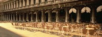 """Chairs Outside A Building, Venice, Italy by Panoramic Images - 27"""" x 9"""""""
