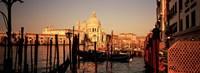 Gondolas In the Canal Venice Italy