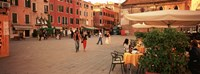 """Tourists in a city, Venice, Italy by Panoramic Images - 27"""" x 9"""""""