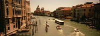 """High angle view of boats in water, Venice, Italy by Panoramic Images - 27"""" x 9"""""""