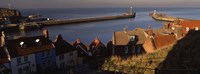 "Buildings On The Waterfront, Whitby Harbour, North Yorkshire, England, United Kingdom by Panoramic Images - 27"" x 9"", FulcrumGallery.com brand"