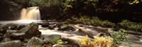 "Stream Flowing Through Rocks, Thomason Foss, Goathland, North Yorkshire, England, United Kingdom by Panoramic Images - 27"" x 9"""