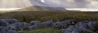 """Clouds Over A Landscape, Ingleborough, Yorkshire Dales, Yorkshire, England, United Kingdom by Panoramic Images - 27"""" x 9"""", FulcrumGallery.com brand"""