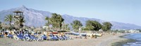 """Tourists On The Beach, San Pedro, Costa Del Sol, Marbella, Andalusia, Spain by Panoramic Images - 27"""" x 9"""""""