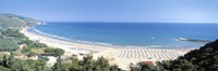 """High angle view of the beach, Sperlonga, Lazio, Italy by Panoramic Images - 27"""" x 9"""" - $28.99"""