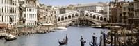 "Bridge Over A Canal, Rialto Bridge, Venice, Veneto, Italy by Panoramic Images - 27"" x 9"", FulcrumGallery.com brand"