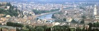 """High Angle View Of A City, Verona, Veneto, Italy by Panoramic Images - 27"""" x 9"""", FulcrumGallery.com brand"""