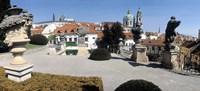 """Sculptures in a garden, Vrtbovska Garden, Prague, Czech Republic by Panoramic Images - 27"""" x 9"""""""