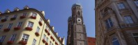 """Low Angle View Of A Cathedral, Frauenkirche, Munich, Germany by Panoramic Images - 27"""" x 9"""""""