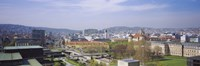 """High angle view of a city, Stuttgart, Germany by Panoramic Images - 27"""" x 9"""" - $28.99"""
