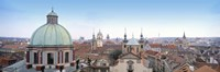 """Church in a city, Prague, Czech Republic by Panoramic Images - 27"""" x 9"""", FulcrumGallery.com brand"""