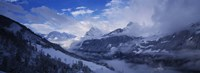"""Clouds over mountains, Alps, Glarus, Switzerland by Panoramic Images - 27"""" x 9"""", FulcrumGallery.com brand"""