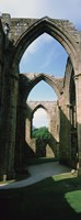 """Low angle view of an archway, Bolton Abbey, Yorkshire, England by Panoramic Images - 9"""" x 27"""""""