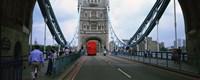 "Bus on a bridge, London Bridge, London, England by Panoramic Images - 27"" x 9"", FulcrumGallery.com brand"