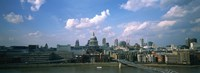 "Buildings on the waterfront, St. Paul's Cathedral, London, England by Panoramic Images - 27"" x 9"", FulcrumGallery.com brand"