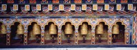 """Prayer Wheels In A Temple, Chimi Lhakhang, Punakha, Bhutan by Panoramic Images - 27"""" x 9"""""""