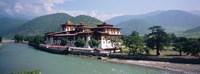 """Palace On A Riverbank, Punakha Dzong, Punakha, Bhutan by Panoramic Images - 27"""" x 9"""""""