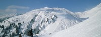 """Ski area in the mountains, Galzig, St. Anton, Austria by Panoramic Images - 27"""" x 9"""""""