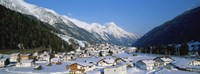 """High angle view of a town, Pettneu, Austria by Panoramic Images - 27"""" x 9"""""""