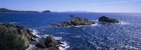Waves Crashing On Rocks Provence France