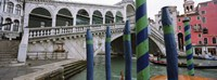 "Arch bridge across a canal, Rialto Bridge, Grand Canal, Venice, Italy by Panoramic Images - 27"" x 9"""