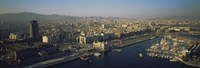 """Aerial view of a city, Barcelona, Spain by Panoramic Images - 27"""" x 9"""", FulcrumGallery.com brand"""