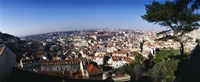 """Aerial view of a city, Lisbon, Portugal by Panoramic Images - 27"""" x 9"""", FulcrumGallery.com brand"""