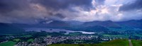 """Storm Clouds Over A Landscape, Keswick, Derwent Water, Lake District, Cumbria, England, United Kingdom by Panoramic Images - 27"""" x 9"""" - $28.99"""